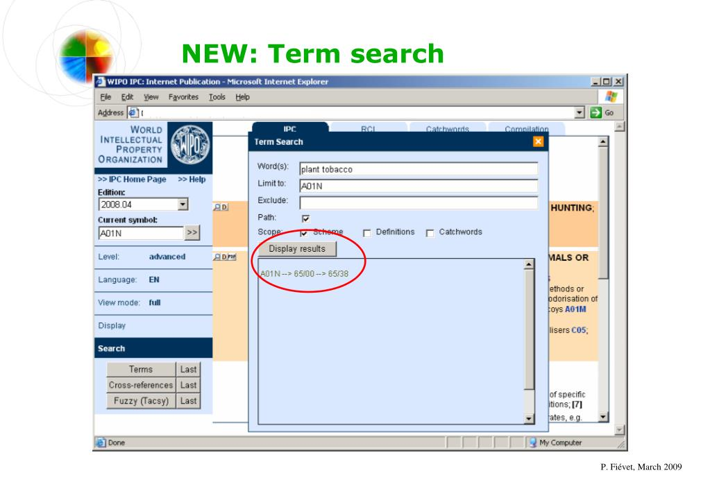 NEW: Term search