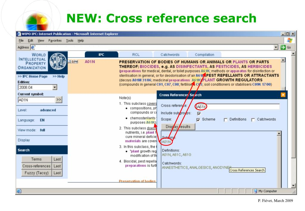 NEW: Cross reference search