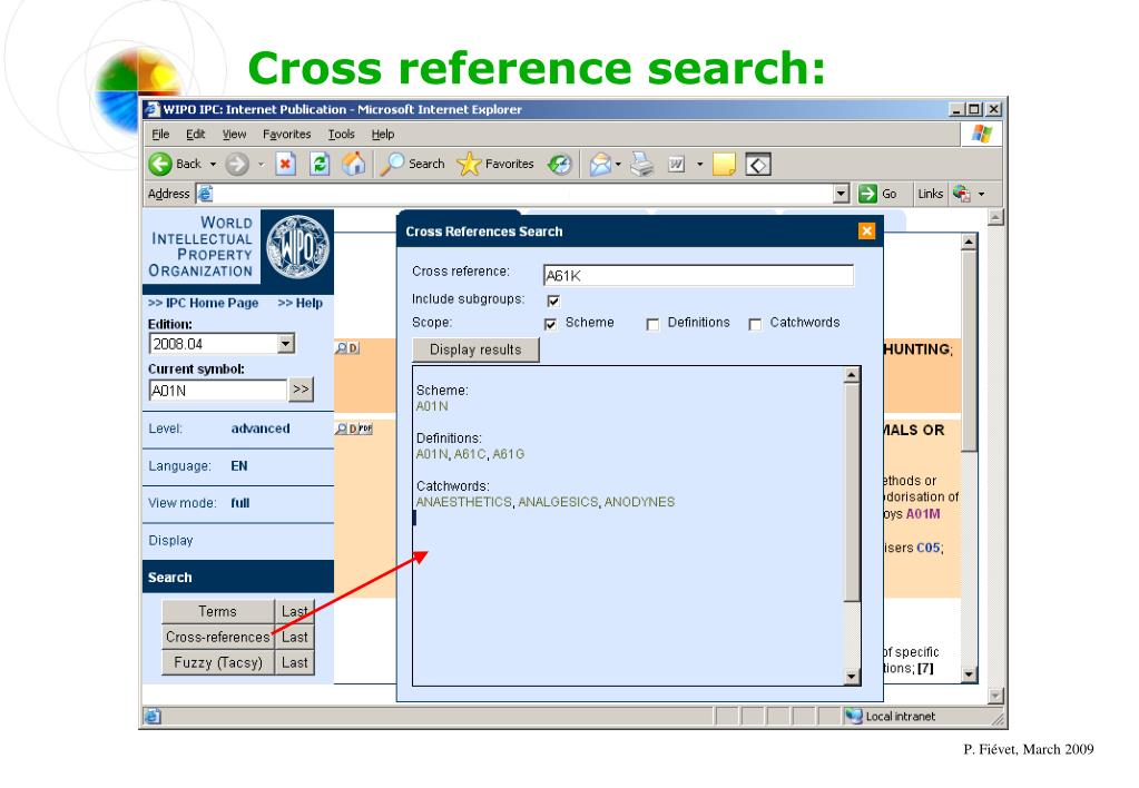 Cross reference search: