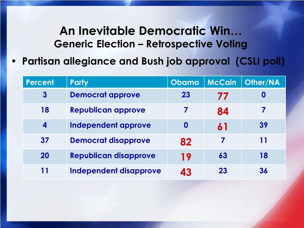 An Inevitable Democratic Win…