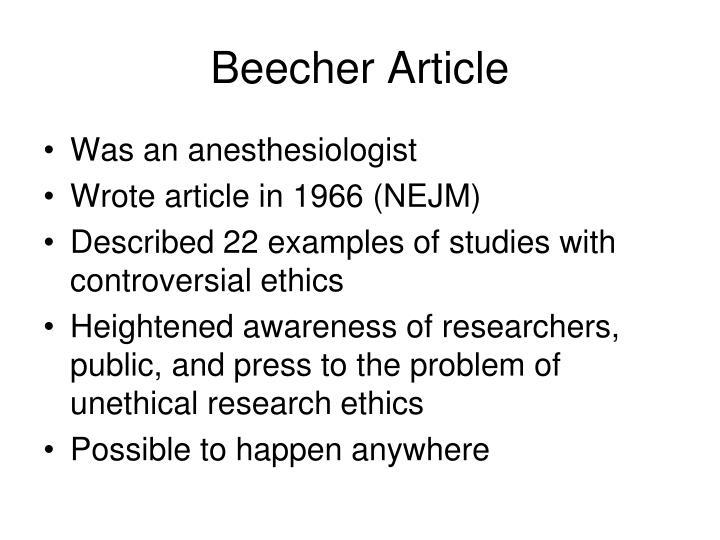 Beecher Article
