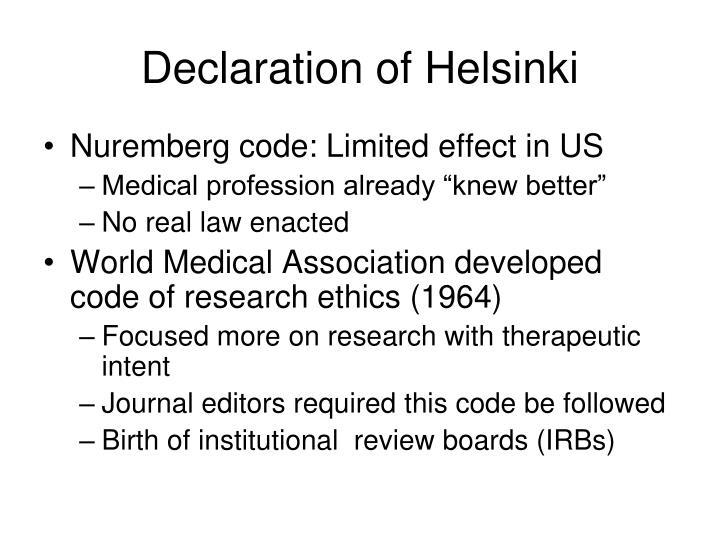 Declaration of Helsinki