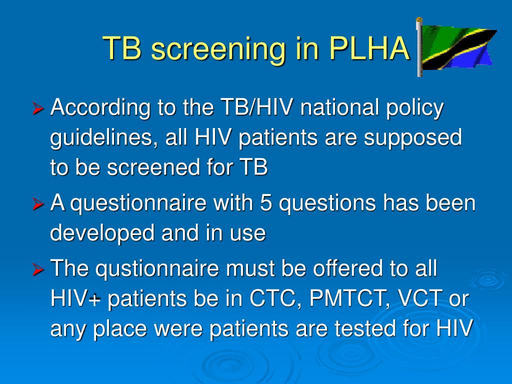 TB screening in PLHA