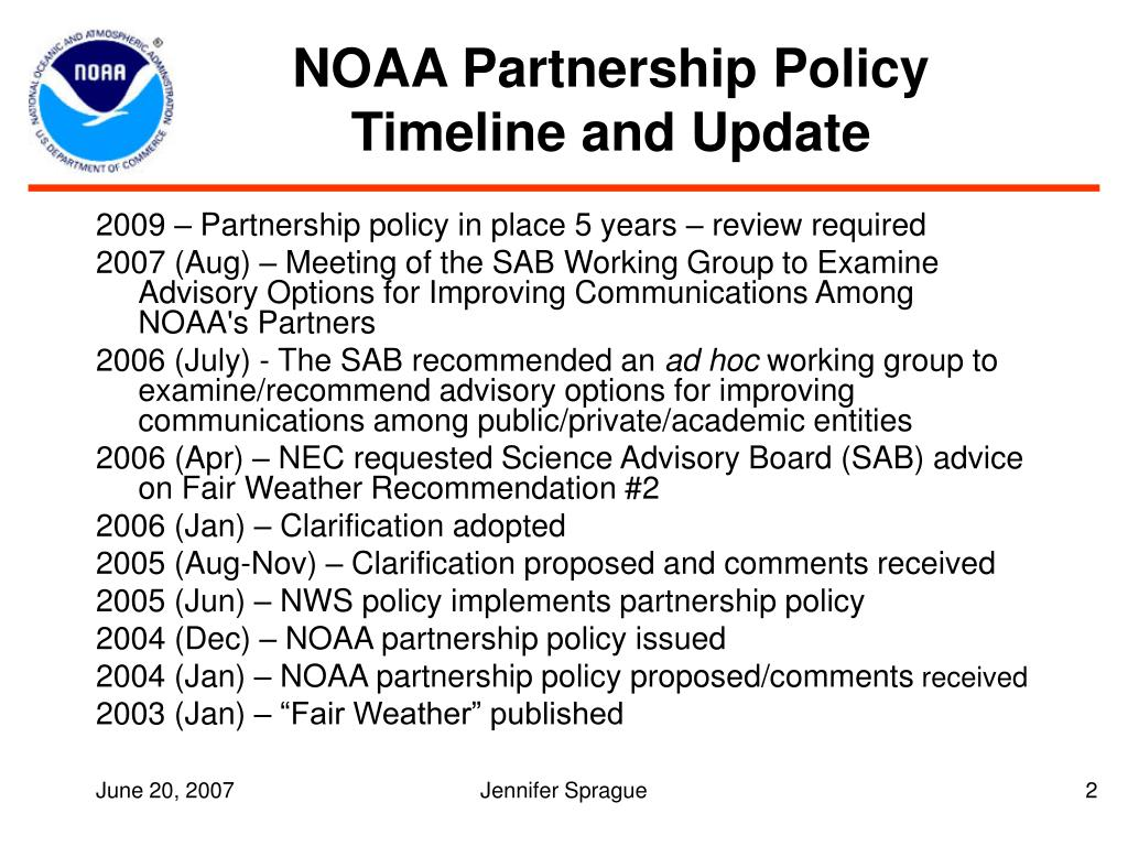 NOAA Partnership Policy