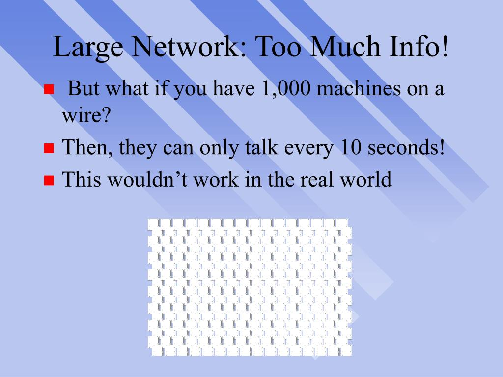Large Network: Too Much Info!