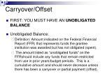 carryover offset