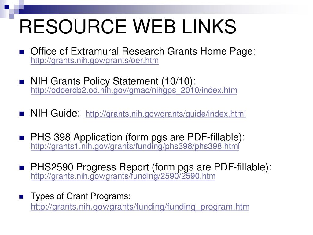 RESOURCE WEB LINKS