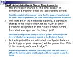 snap administrative fiscal requirements
