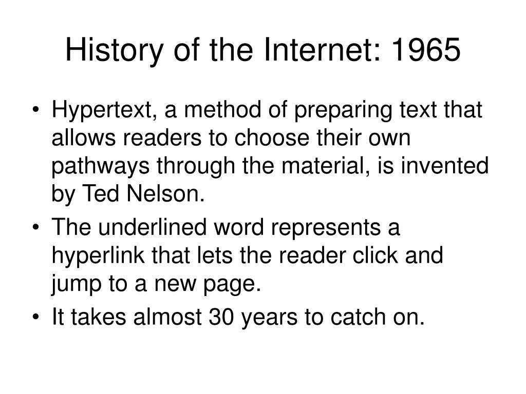 History of the Internet: 1965