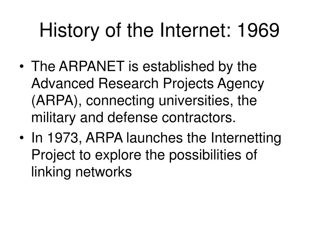 History of the Internet: 1969