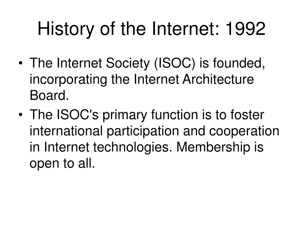 History of the Internet: 1992