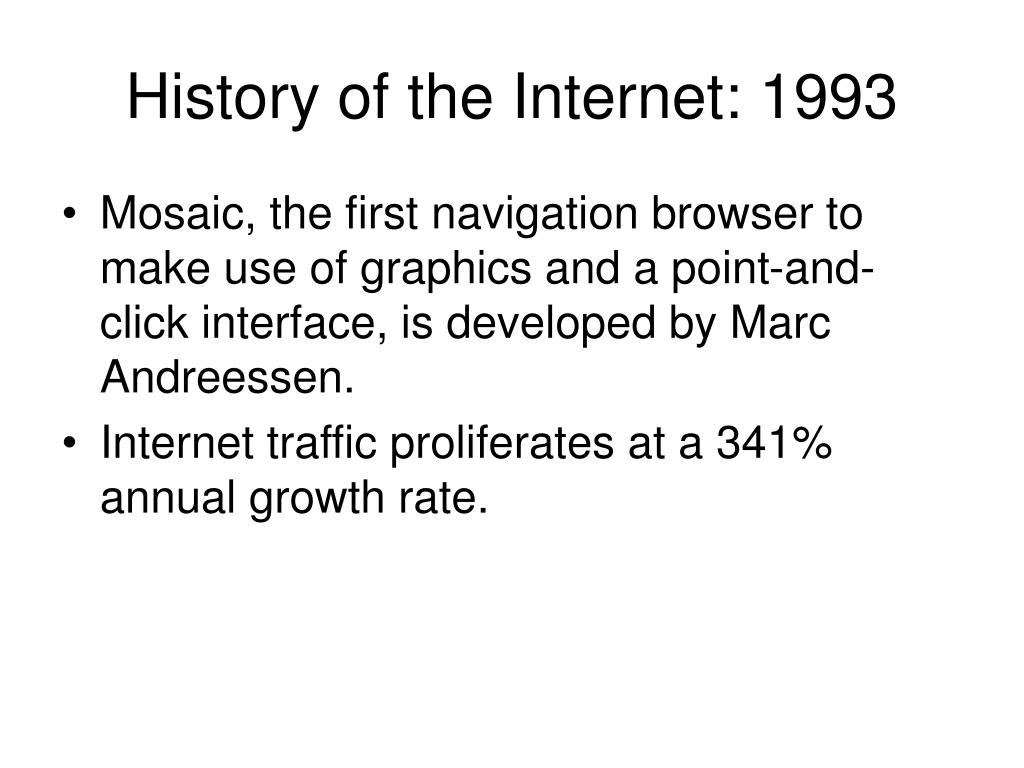 History of the Internet: 1993