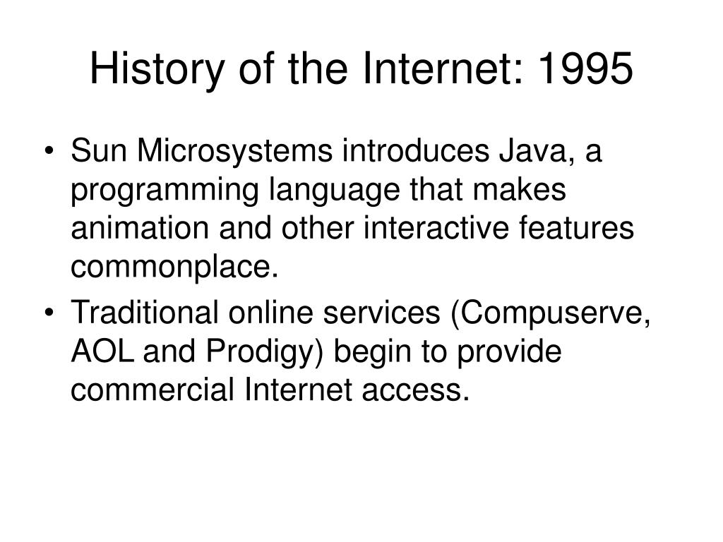 History of the Internet: 1995