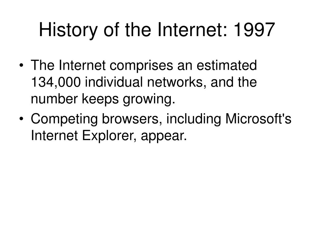 History of the Internet: 1997