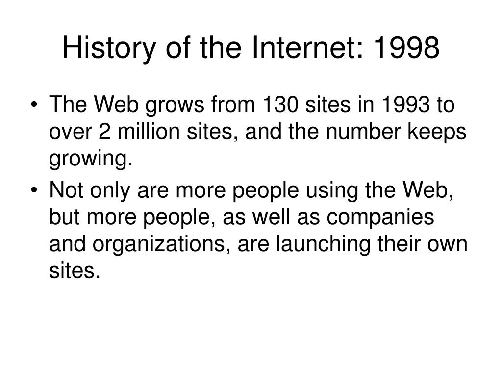 History of the Internet: 1998