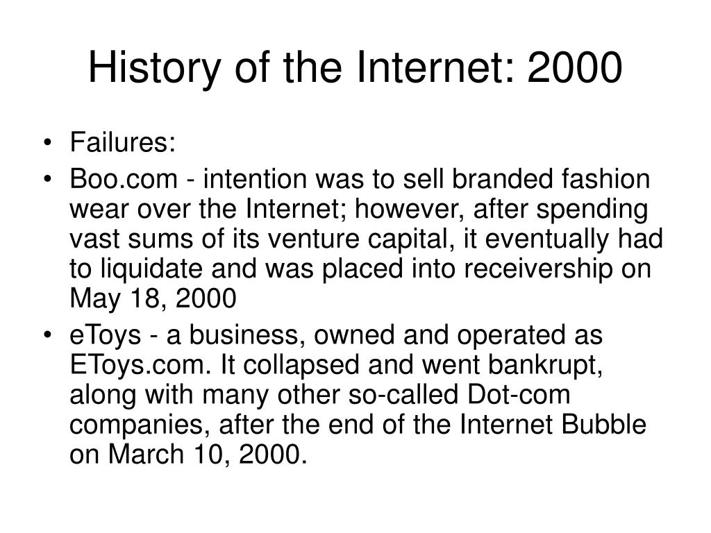 History of the Internet: 2000