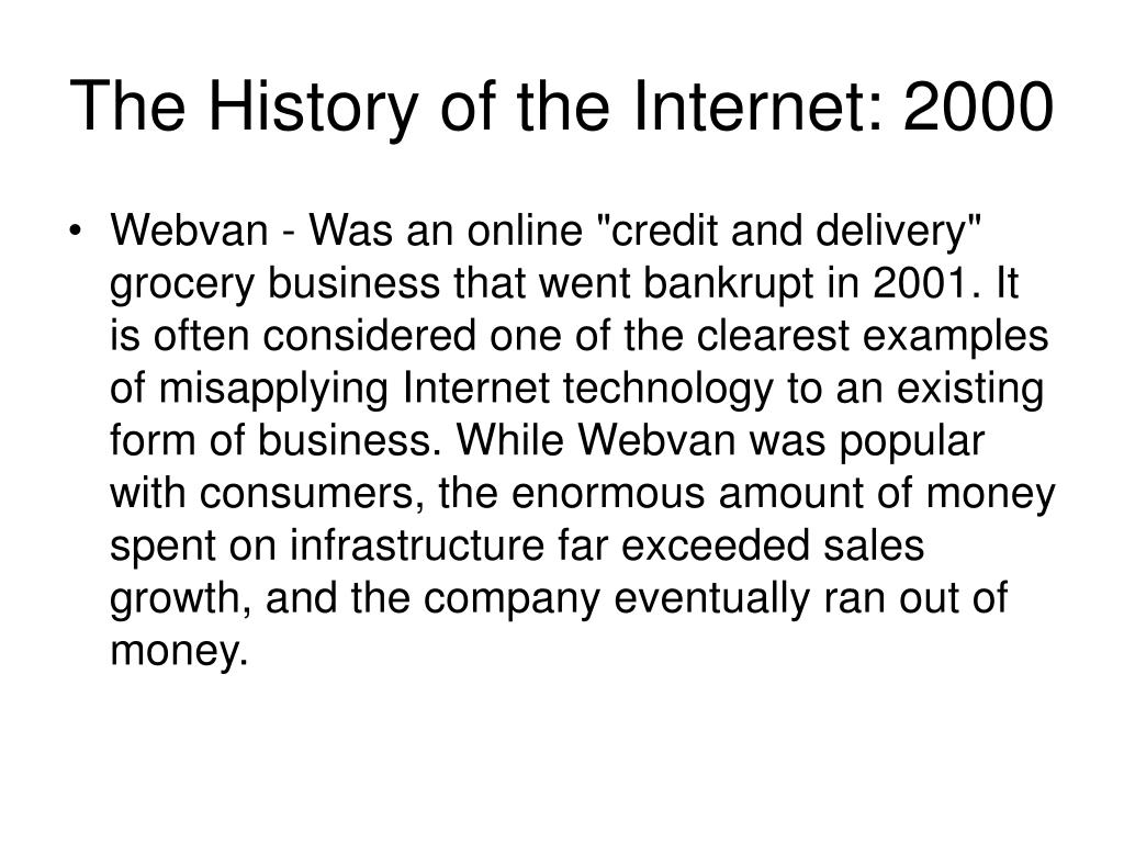 The History of the Internet: 2000