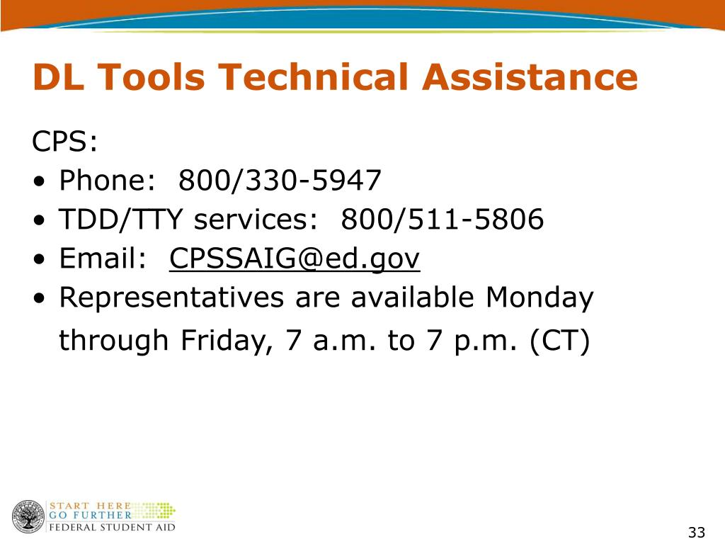 DL Tools Technical Assistance