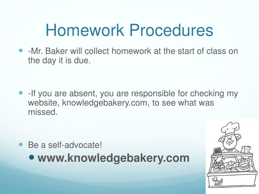 Homework Procedures