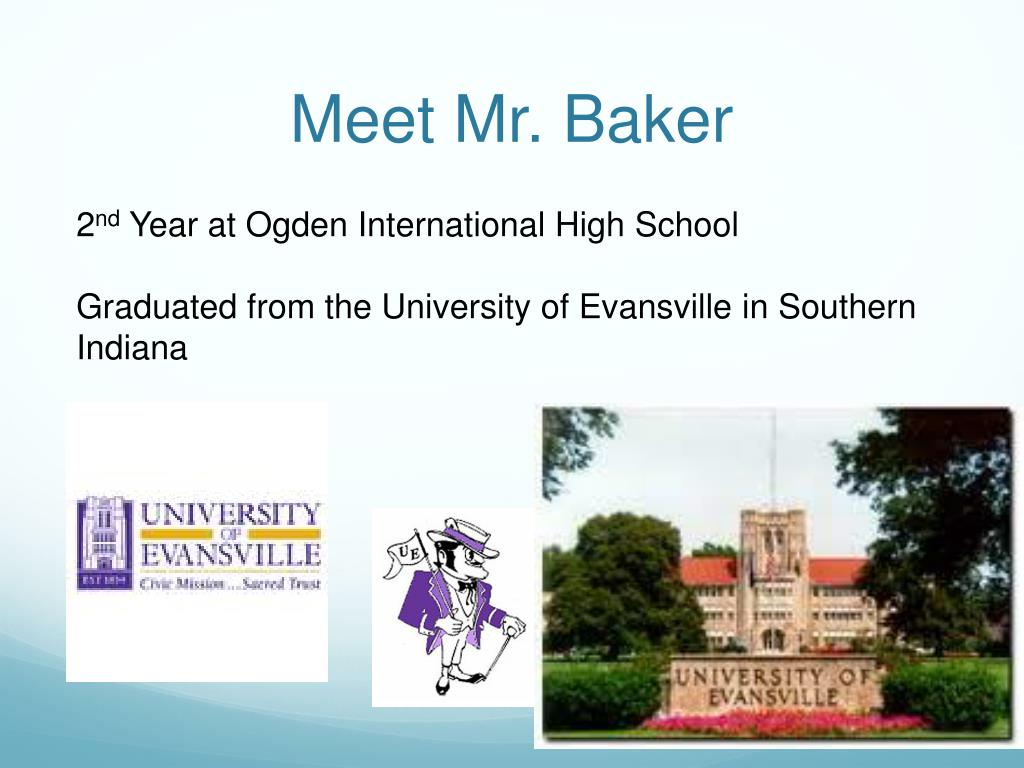 Meet Mr. Baker