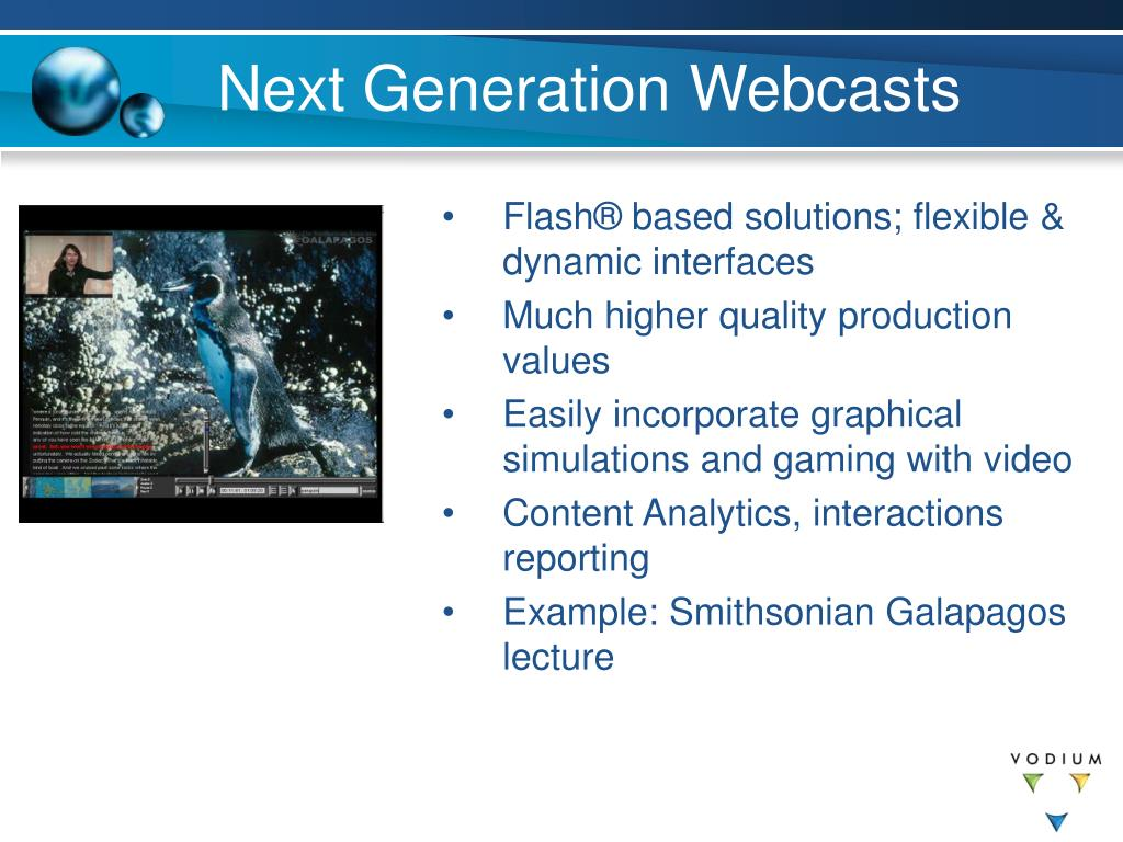 Next Generation Webcasts
