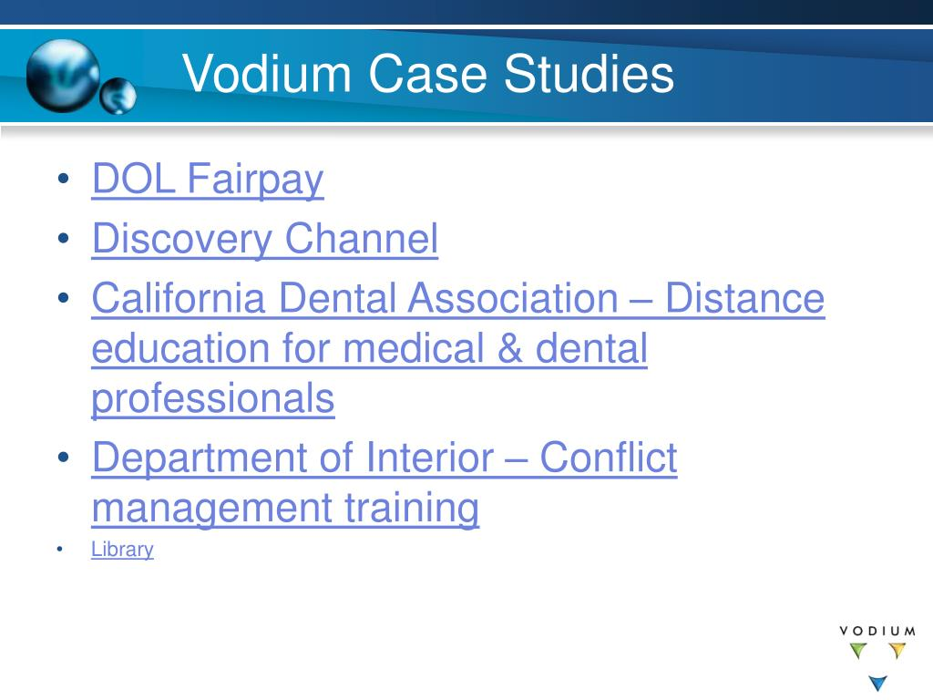Vodium Case Studies
