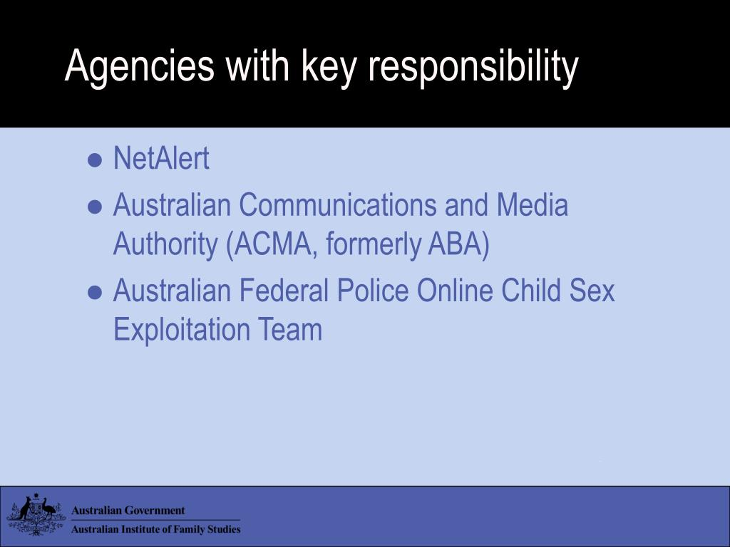 Agencies with key responsibility