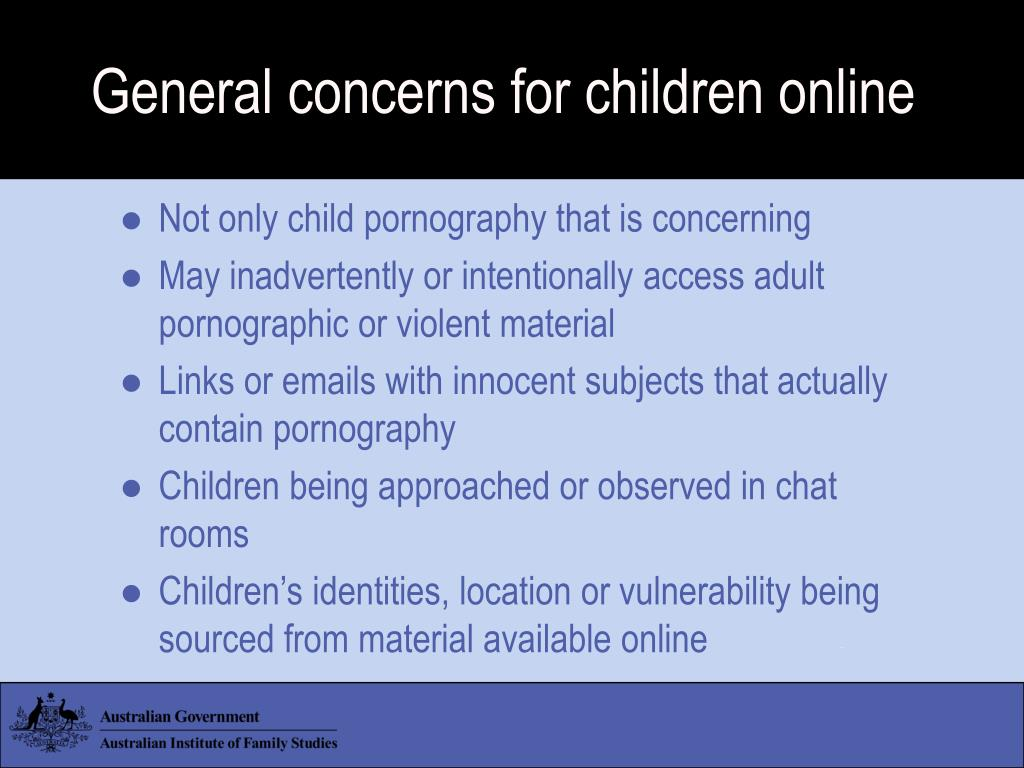 General concerns for children online