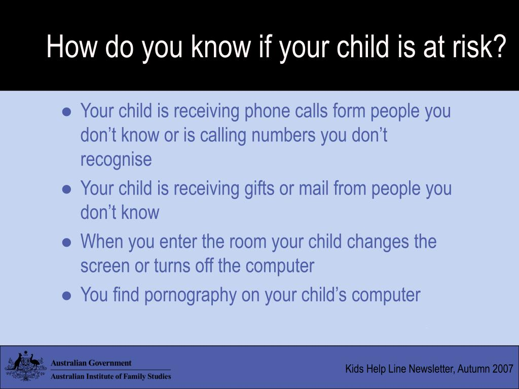 How do you know if your child is at risk?