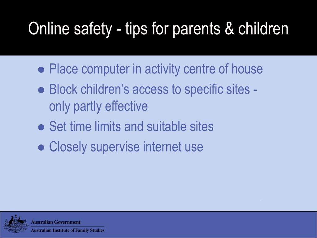 Online safety - tips for parents & children