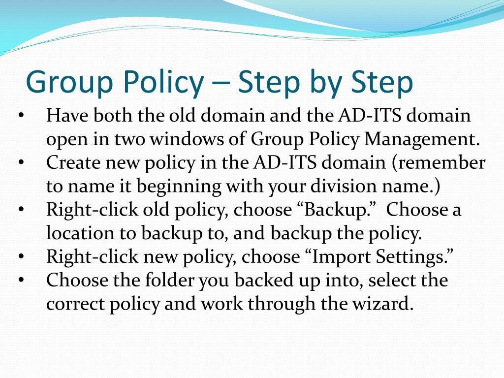 Group Policy – Step by Step