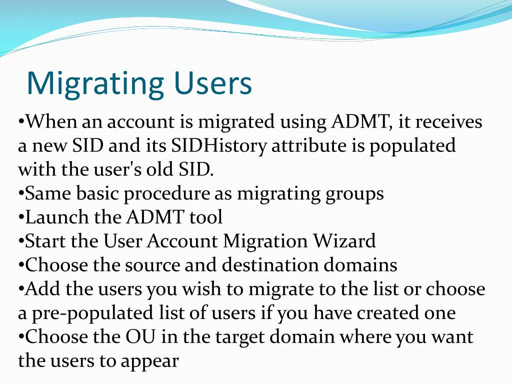 Migrating Users