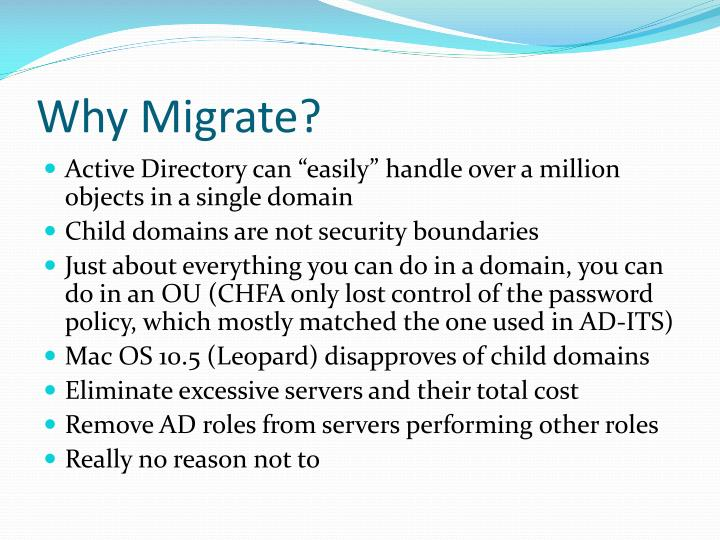 Why migrate