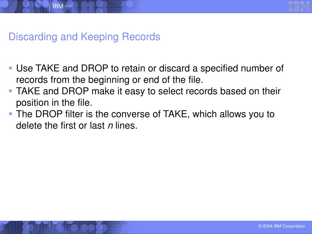 Discarding and Keeping Records