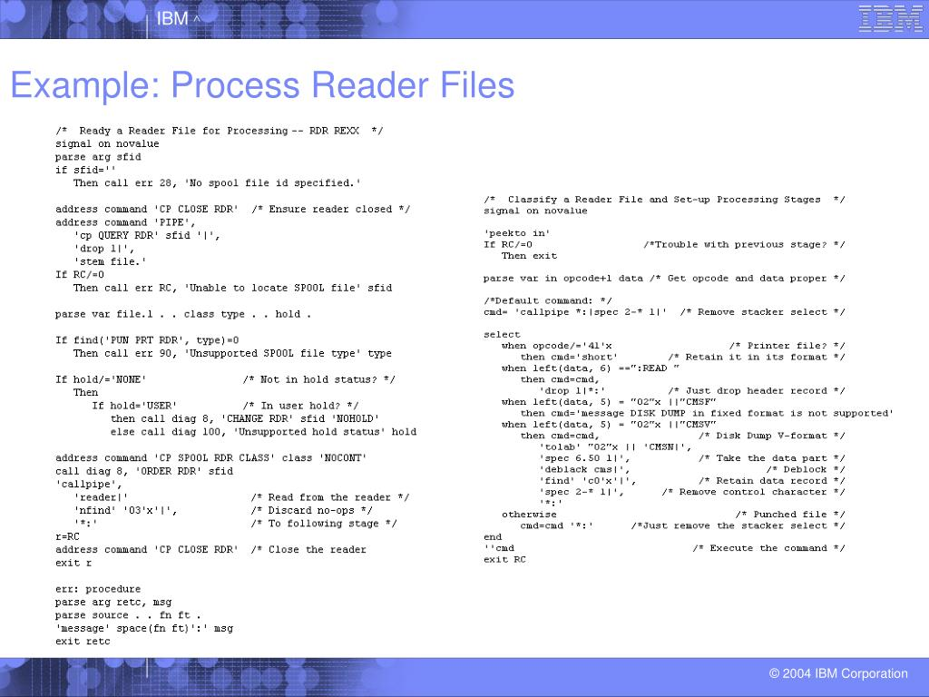 Example: Process Reader Files