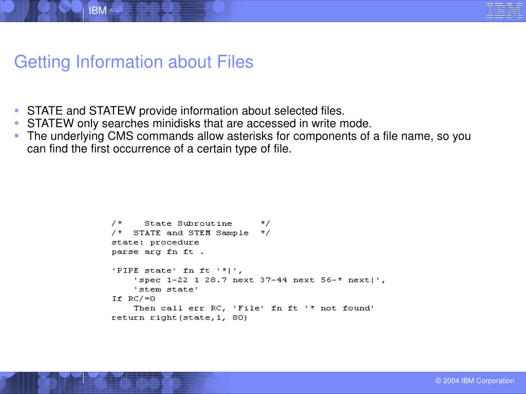 Getting Information about Files