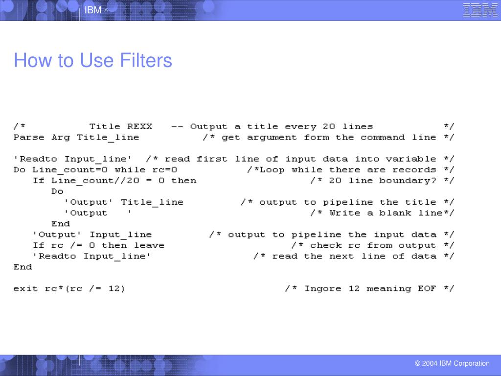 How to Use Filters