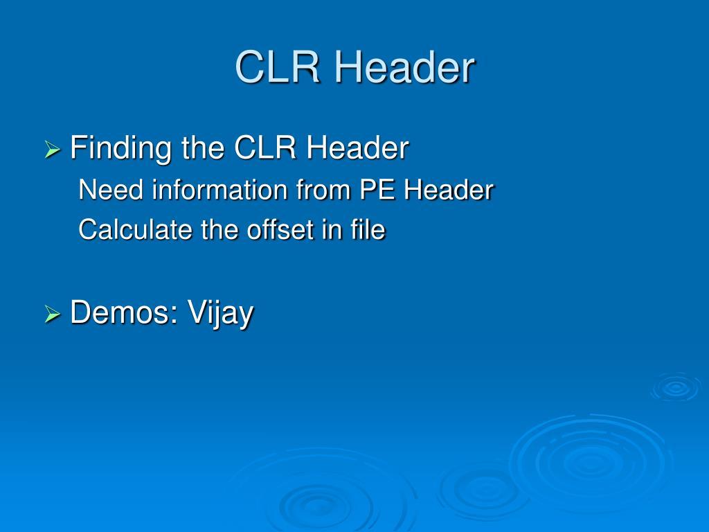 CLR Header