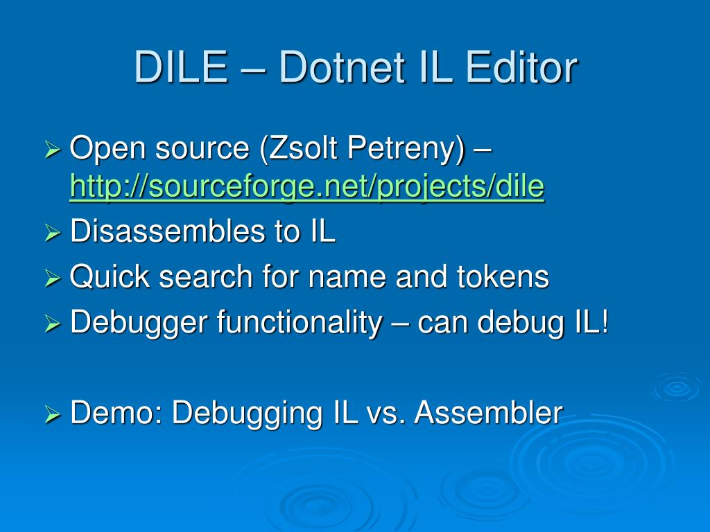 DILE – Dotnet IL Editor