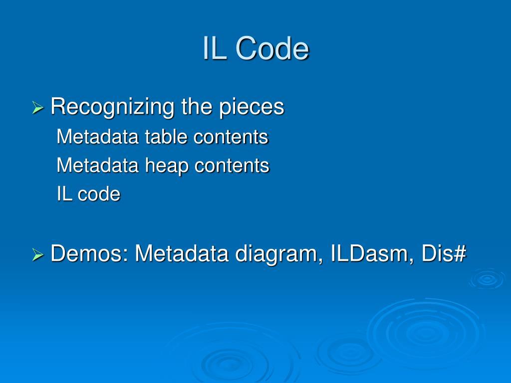IL Code
