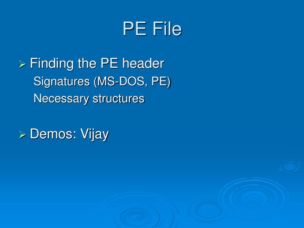 PE File