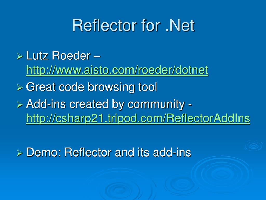 Reflector for .Net