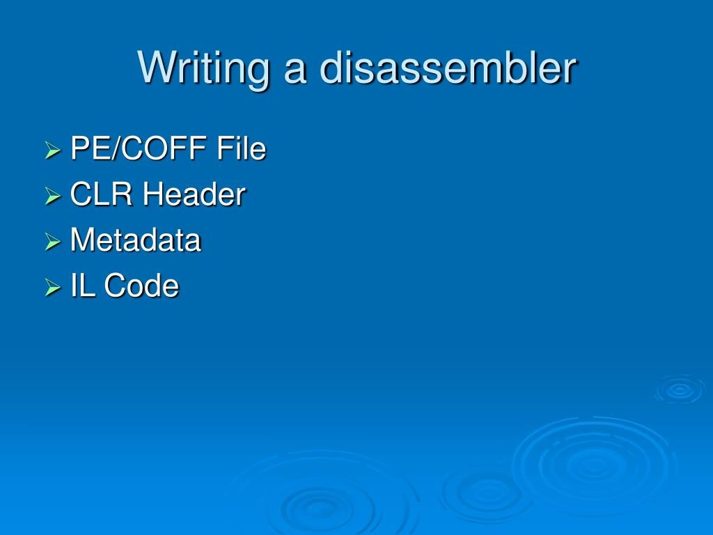 Writing a disassembler