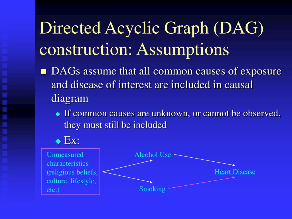 causal diagram dag ppt - causal diagrams: directed acyclic graphs to ...