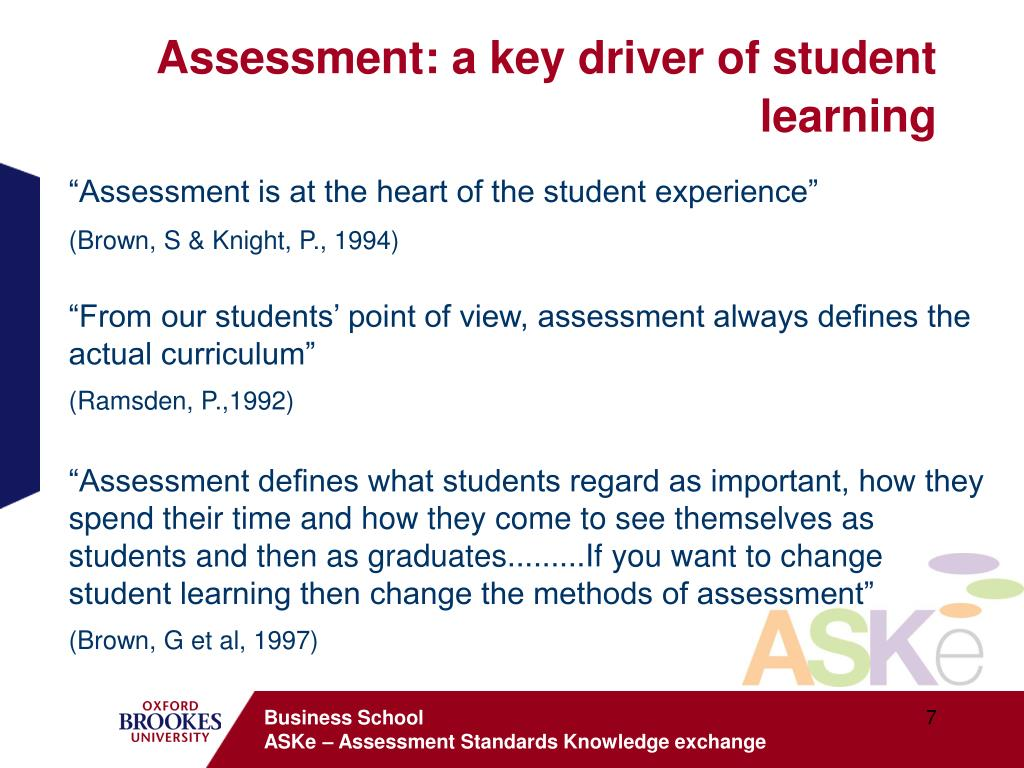 Assessment: a key driver of student learning