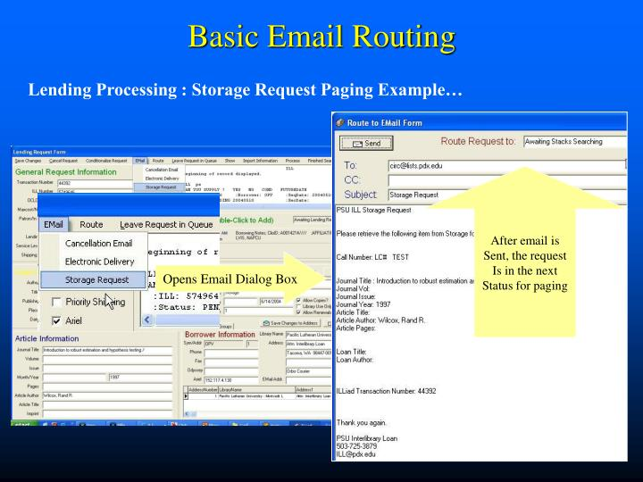 Basic email routing