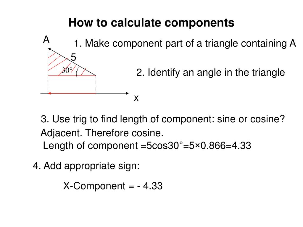 How to calculate components