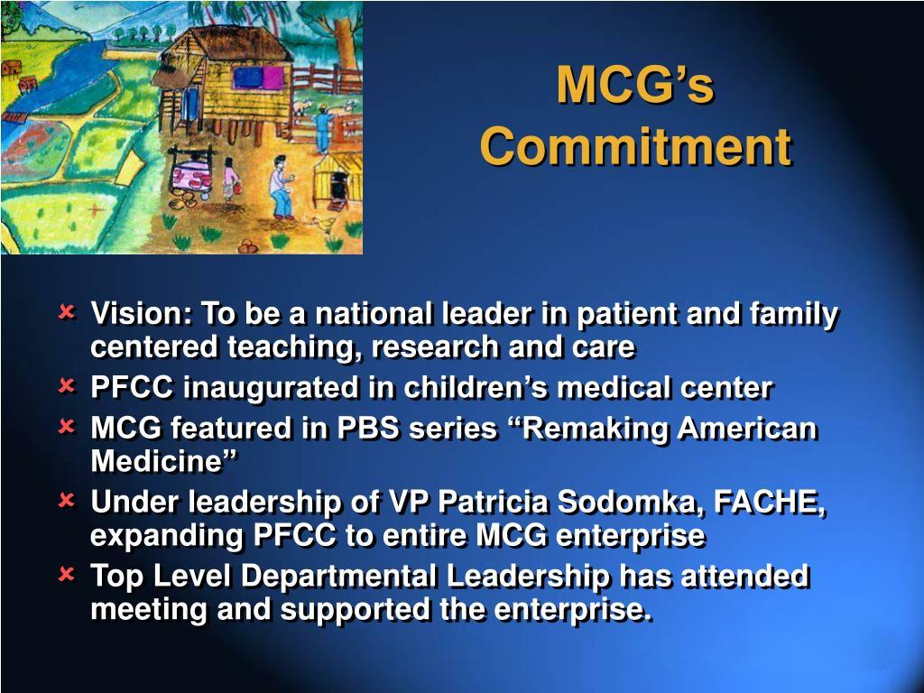 MCG's Commitment