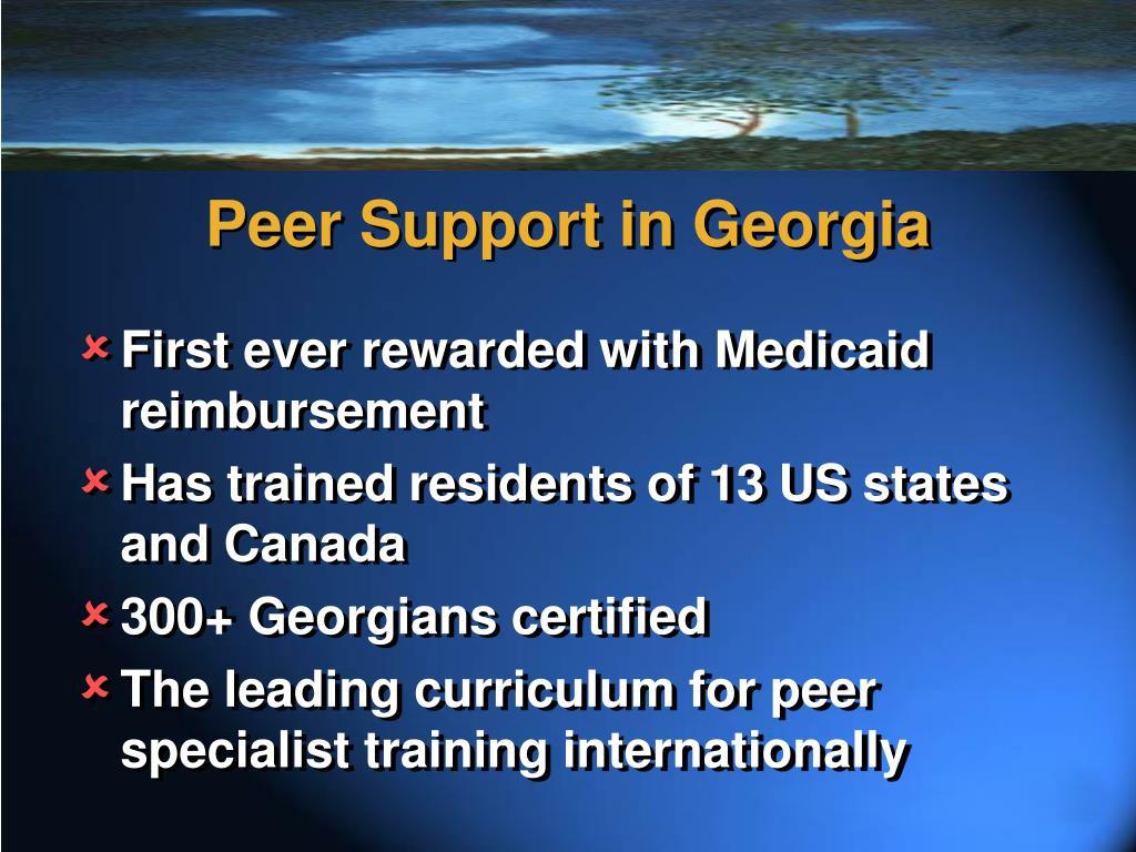 Peer Support in Georgia