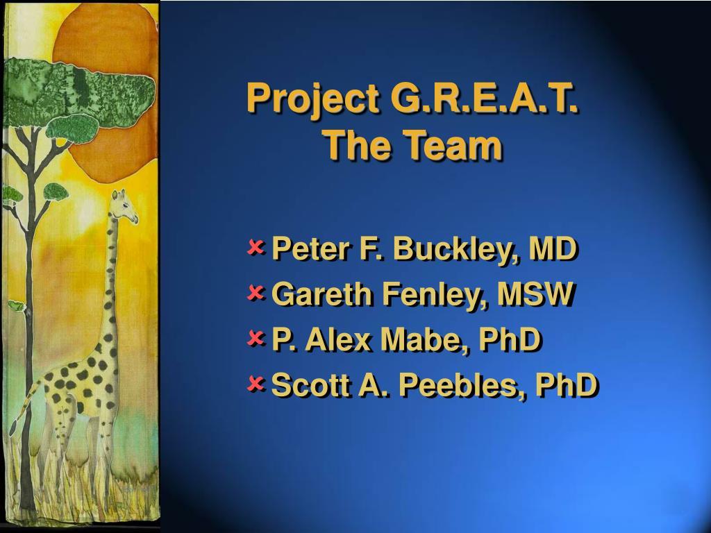 Project G.R.E.A.T.